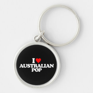 I LOVE AUSTRALIAN POP KEYCHAIN