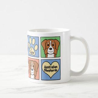 I Love Australian Shepherds Coffee Mug