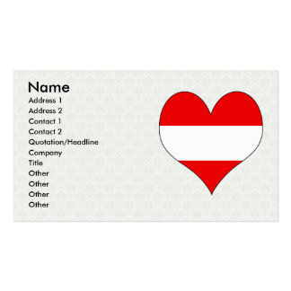 I Love Austria Business Card