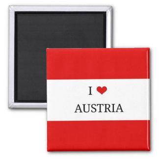 I Love Austria, Flag of Austria Magnet