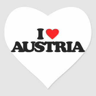 I LOVE AUSTRIA HEART STICKER