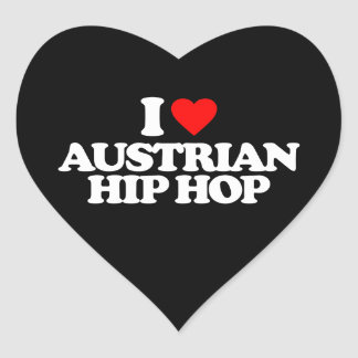 I LOVE AUSTRIAN HIP HOP HEART STICKER