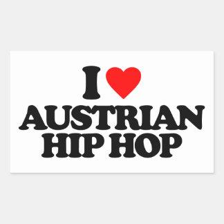I LOVE AUSTRIAN HIP HOP RECTANGULAR STICKER