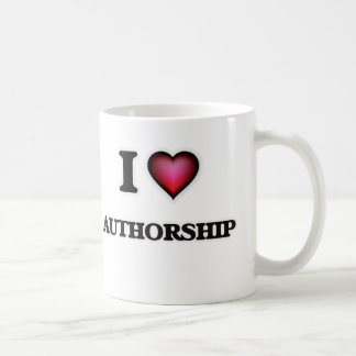 I Love Authorship Coffee Mug