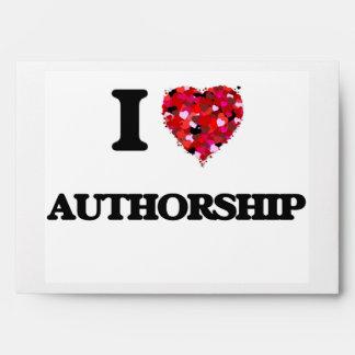 I Love Authorship Envelopes