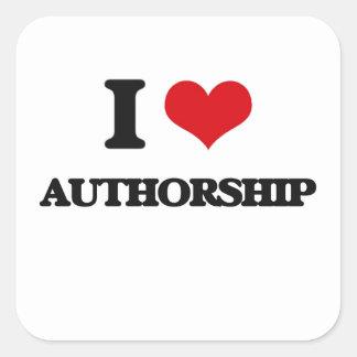 I Love Authorship Square Sticker