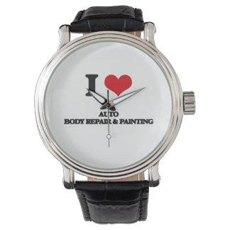 I Love Auto Body Repair & Painting Wristwatch