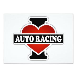 I Love Auto Racing Card