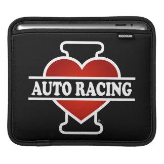 I Love Auto Racing iPad Sleeve