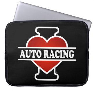 I Love Auto Racing Laptop Sleeves