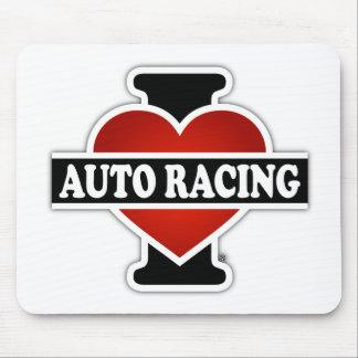 I Love Auto Racing Mouse Pad