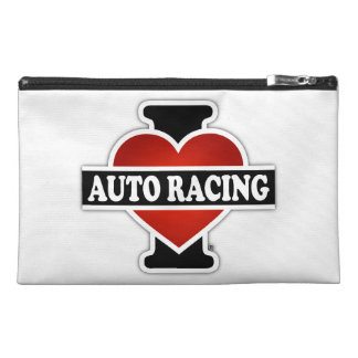I Love Auto Racing Travel Accessory Bags