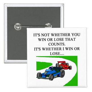 i love auto raing pin