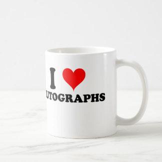 I Love Autographs Coffee Mug
