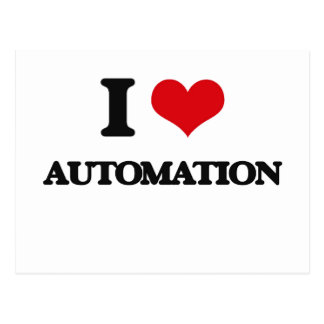 I Love Automation Postcard