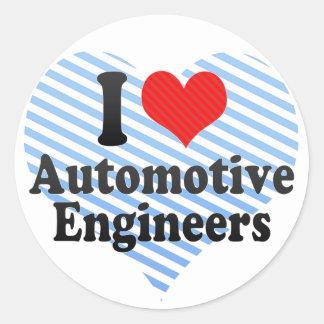 I Love Automotive Engineers Sticker