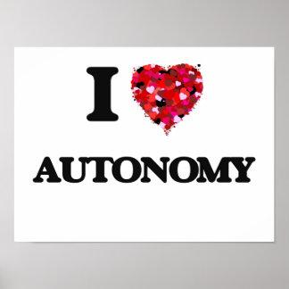 I Love Autonomy Poster