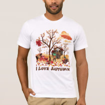 I Love Autumn - Fall Scenery T-Shirt