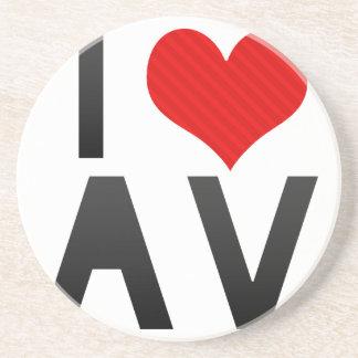 I Love AV Beverage Coaster