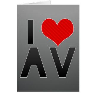 I Love AV Stationery Note Card