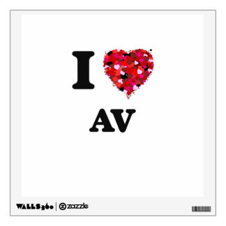 I Love Av Wall Decor
