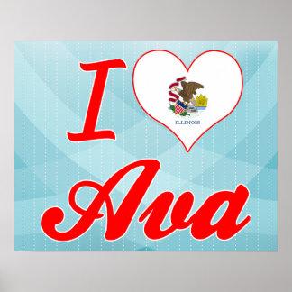 I Love Ava, Illinois Posters