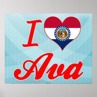I Love Ava, Missouri Posters