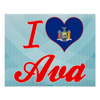 I Love Ava, New York Posters
