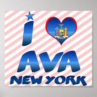 I love Ava, New York Print