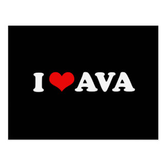 I LOVE AVA POSTCARD