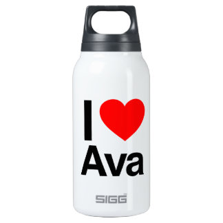 i love ava 10 oz insulated SIGG thermos water bottle