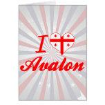 I Love Avalon, Georgia Greeting Card
