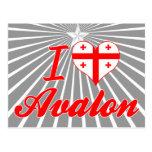 I Love Avalon, Georgia Postcard