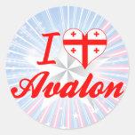 I Love Avalon, Georgia Round Sticker
