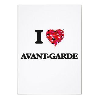 I Love Avant-Garde 5x7 Paper Invitation Card