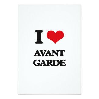I Love Avant-Garde 3.5x5 Paper Invitation Card