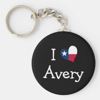 I Love Avery Keychains