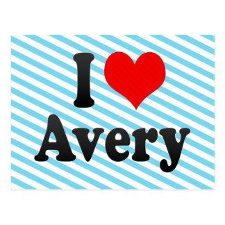 I love Avery Postcard