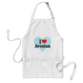 I Love Avestan Adult Apron