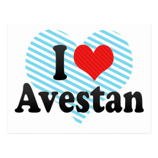 I Love Avestan Postcard