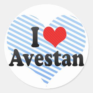 I Love Avestan Classic Round Sticker