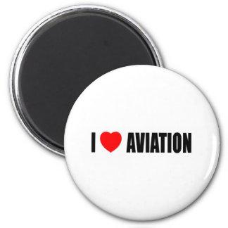 I Love Aviation 2 Inch Round Magnet