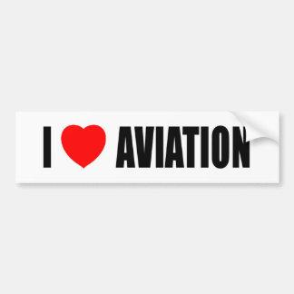 I Love Aviation Bumper Sticker