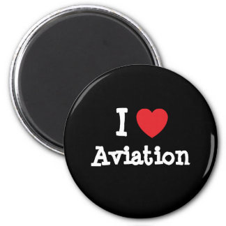 I love Aviation heart custom personalized Refrigerator Magnets