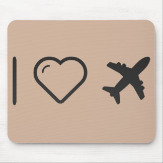I Love Aviation Mouse Pad