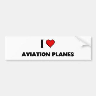 i love aviation Planes Bumper Sticker