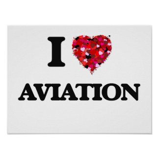I Love Aviation Poster
