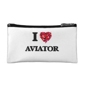 I Love Aviator Makeup Bag