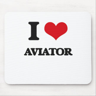 I Love Aviator Mouse Pad