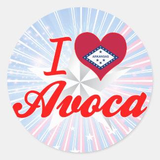I Love Avoca, Arkansas Stickers